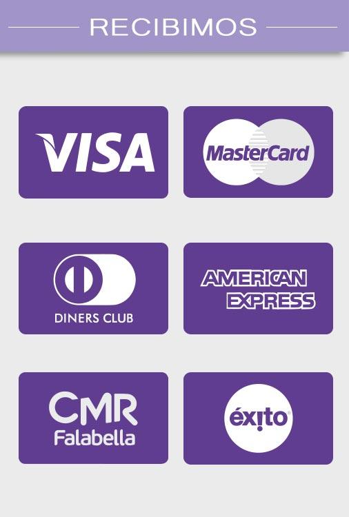 Banner de visualización de Tarjetas de Crédito que recibimos en Professional Beauty